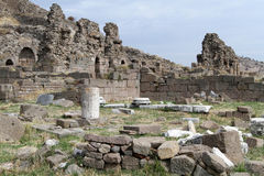 Ruins in Bergama Stock Photo
