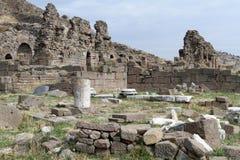 Ruins in Bergama Stock Photo