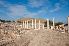 Ruins of Bet Shean. Ruins of Ancient Bet Shean which Collapsed during Earthquake Stock Image
