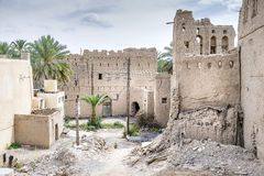 Ruins Birkat al mud. Image ruins Birkat al mud in Oman Stock Photo