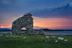Ruins of Bishop house at Iona Abbey Stock Photos