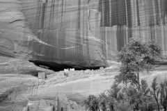 Ruins - Black and White. Ancient Anasazi ruins Stock Photo