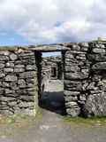 Ruins, Blackhouse, Arnol, Isle of Lewis Stock Image
