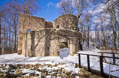 Ruins of Bolczow castle in Poland Stock Images
