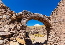 Ruins in Bolivia Royalty Free Stock Image