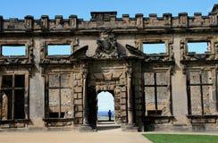 Ruins Bolsover Castle. Bolsover Castle is a castle in Bolsover, Derbyshire, England Royalty Free Stock Images