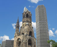 Ruins of bombed church, Berlin Royalty Free Stock Photos