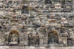 Ruins of the Borobudur temple complex, Java island Royalty Free Stock Photo