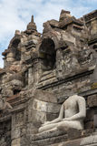 Ruins of the Borobudur temple complex, Java island Royalty Free Stock Photography