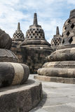 Ruins of the Borobudur temple complex Royalty Free Stock Photos
