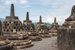 Ruins of the Borobudur temple complex Royalty Free Stock Images