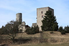 The ruins of the Brandenburg Castle Stock Photo