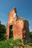 Ruins of Brandenburg castle in Ushakovo Stock Images