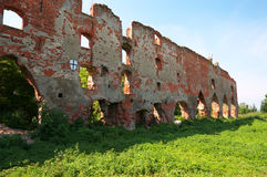 Ruins of Brandenburg castle in Ushakovo Royalty Free Stock Photography