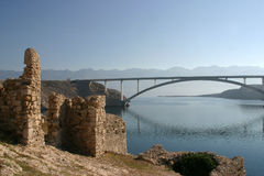 Ruins and bridge Royalty Free Stock Photo
