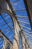 Ruins of the Broere church with modern glass roof in Bolsward Stock Image