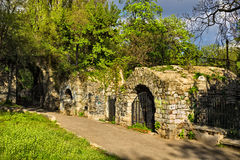 Ruins in Bucharest Royalty Free Stock Photography