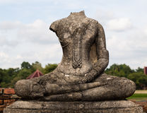 Ruins of buddha statue at Chaiwatthanaram Temple, Ayutthaya. Chaiwatthanaram Temple in ayutthaya province Thailand stock images