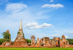Ruins of Buddha statues and pagoda in Wat Mahathat,Phra Nakhon Si Ayutthaya Province It is one of the temples in the district. Phra Nakhon Si Ayutthaya stock photography
