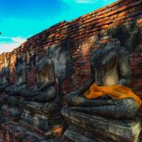 Ruins of buddha. Ruins of temple Royalty Free Stock Images