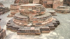 Ruins of Buddhism at Sarnath royalty free stock images