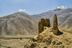 Ruins of buddhist shrines Stock Photography