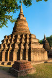 Ruins of Buddhist stupa or chedi Royalty Free Stock Photography