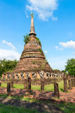 Ruins of Buddhist stupa or chedi temple Royalty Free Stock Photography