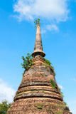 Ruins of Buddhist stupa or chedi temple Royalty Free Stock Images