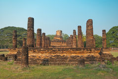 Ruins of buddhist temple Stock Photo