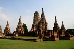 Ruins of buddist temple. In Ayuthaya Stock Photos