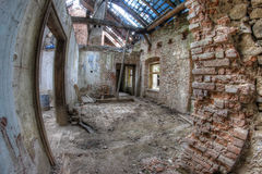 Ruins of the building in dilapidated condition Stock Photo