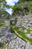 Ruins of building. The ruins of building, Kotor city, Montenegro Stock Photos