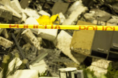 Ruins of building after tragedy Stock Image