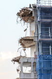 Ruins of building under destruction, urban scene. Royalty Free Stock Photography