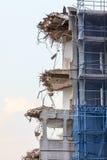 Ruins of building under destruction, urban scene. Stock Images
