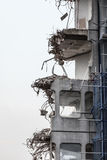 Ruins of building under destruction, urban scene. Royalty Free Stock Images