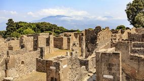 Ruins of buildings at Pompeii, Italy royalty free stock photos