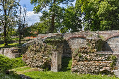 Ruins of the builings in the ancient Roman city of Diokletianopolis, town of Hisarya, Bulgaria Royalty Free Stock Photos