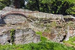 Ruins of the builings in the ancient Roman city of Diokletianopolis, town of Hisarya, Bulgaria Royalty Free Stock Image
