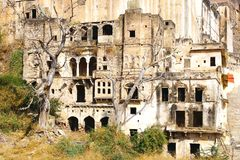 The ruins of the Bundi Palace. Stock Images