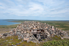 Ruins of a bunker from the Second World War in Arctic Stock Images