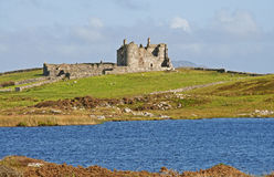 The Ruins at Bunowen royalty free stock images