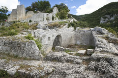 Ruins of the buoux fort Citadelle du Luberon Royalty Free Stock Image