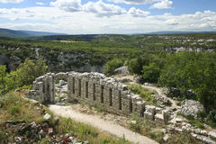Ruins of the buoux fort Citadelle du Luberon Stock Image
