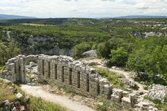 Ruins of the buoux fort Citadelle du Luberon Royalty Free Stock Photo