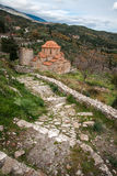 Ruins of the Byzantine castle town of Mystras Royalty Free Stock Photos