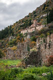 Ruins of the Byzantine castle town of Mystras Stock Photography