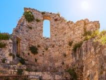 Ruins of Byzantine church in Jerusalem Royalty Free Stock Photography