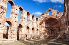 Ruins of Byzantine church in Nesebar Royalty Free Stock Photo